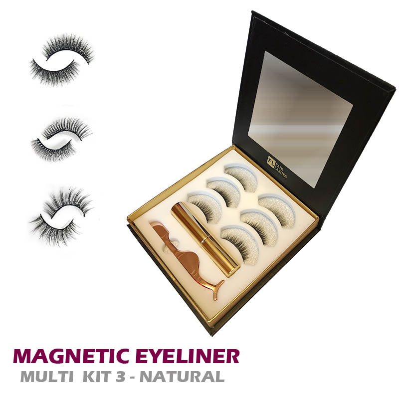 Magnetický set: MAGNETIC EYELINER KIT 3 - NATURAL